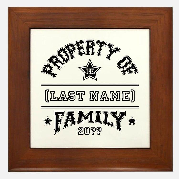 Family Property Framed Tile