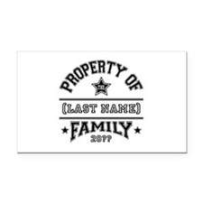 Family Property Rectangle Car Magnet