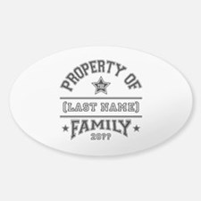 Family Property Sticker (Oval 10 pk)