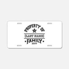 Family Property Aluminum License Plate