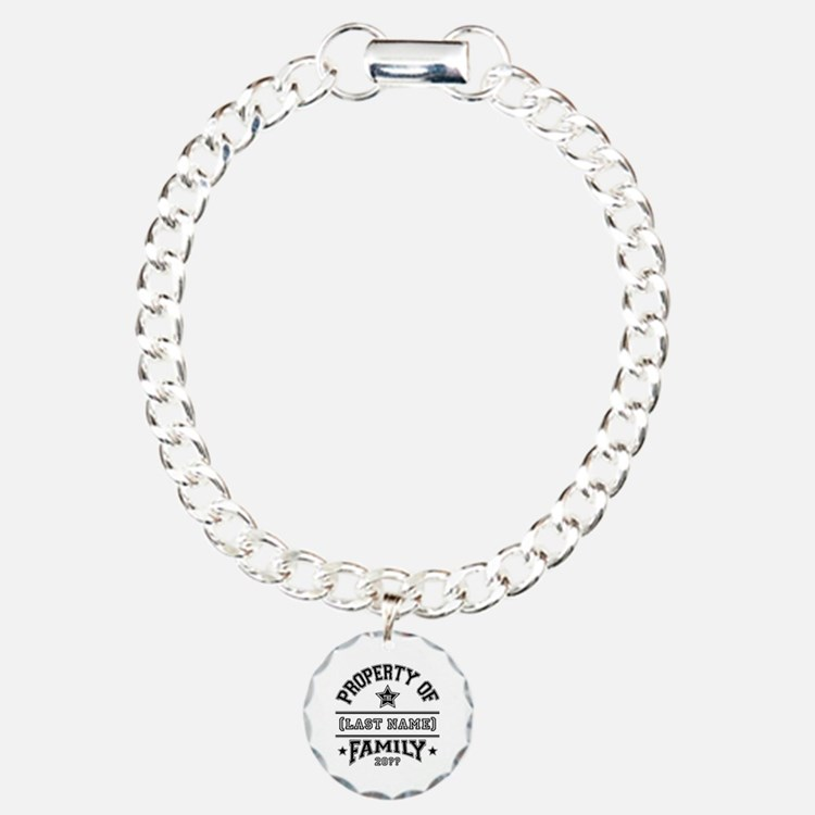 Family Property Charm Bracelet, One Charm