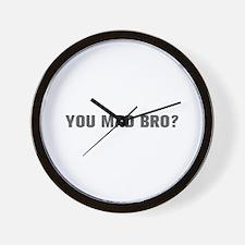You mad bro-Akz gray Wall Clock