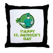 Irish Rugby St. Patrick's Day Throw Pillow
