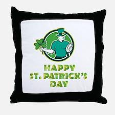 Irish Rugby St. Patrick's Day Throw Pillow