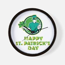 Irish Rugby St. Patrick's Day Wall Clock