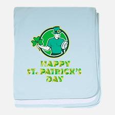 Irish Rugby St. Patrick's Day baby blanket