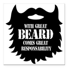 Great Beard - Great Responsability Square Car Magn