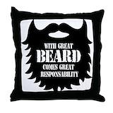 Beard Throw Pillows