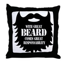 Great Beard - Great Responsability Throw Pillow