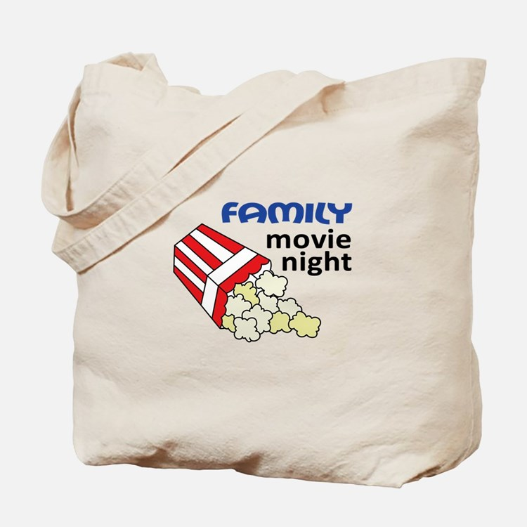 FAMILY MOVIE NIGHT Tote Bag