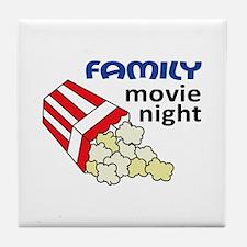 FAMILY MOVIE NIGHT Tile Coaster