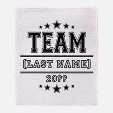 Team Family Throw Blanket