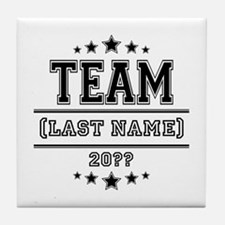 Team Family Tile Coaster