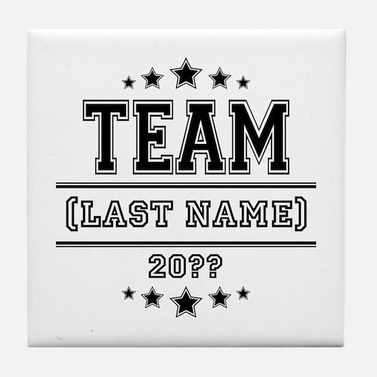 Team Family Tile Coaster