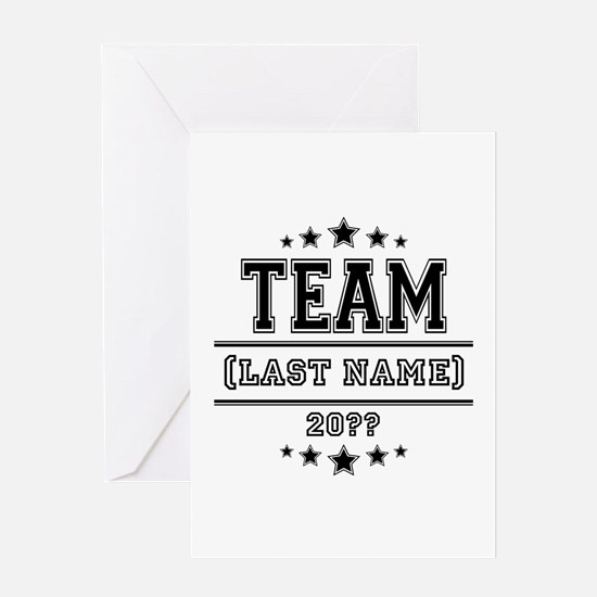 Team Family Greeting Card