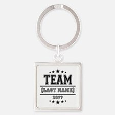 Team Family Square Keychain