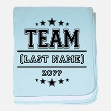 Team Family baby blanket