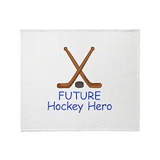 FUTURE HOCKEY HERO Throw Blanket