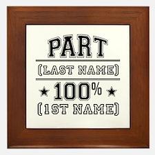 100 Percent Me Framed Tile