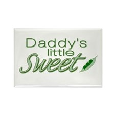 Daddy's Sweet Pea Rectangle Magnet