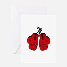 SMALL BOXING GLOVES Greeting Cards