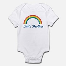 Little Brother (vintage-rainb Infant Bodysuit