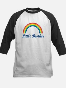 Little Brother (vintage-rainb Kids Baseball Jersey