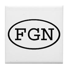 FGN Oval Tile Coaster