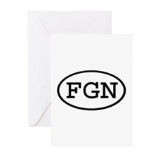 FGN Oval Greeting Cards (Pk of 10)