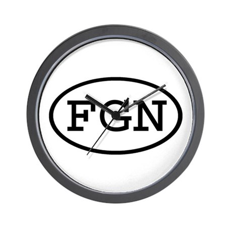FGN Oval Wall Clock