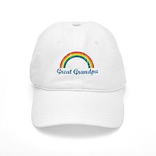 Great Grandpa (vintage-rainbo Baseball Cap