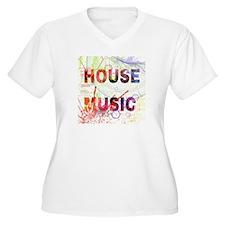 i love house music Plus Size T-Shirt
