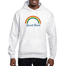 Great Aunt (vintage-rainbow) Hoodie