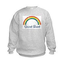 Great Aunt (vintage-rainbow) Sweatshirt