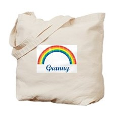 Granny (vintage-rainbow) Tote Bag