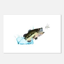 BASS AFTER DRAGONFLY Postcards (Package of 8)