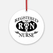 Biker Style Registered Nurse RN Ornament (Round)