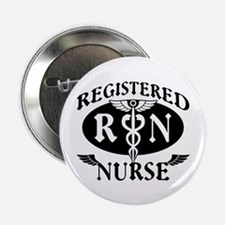"Biker Style Registered Nurse RN 2.25"" Button (100"
