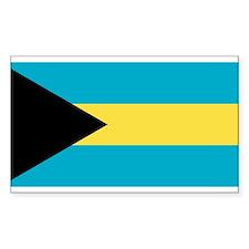 Bahamas Flag Rectangle Decal