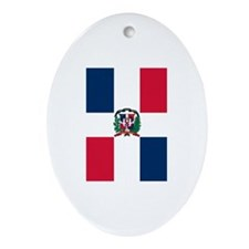 Dominican Republic Flag Oval Ornament