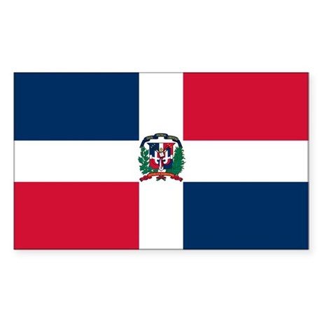 Dominican Republic Flag Rectangle Sticker