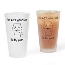 93 dog years 6 Drinking Glass