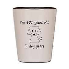 93 dog years 6 Shot Glass