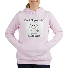 93 dog years 6 Women's Hooded Sweatshirt