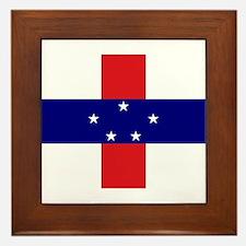 Netherlands Antilles Flag Framed Tile
