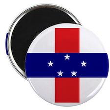 """Netherlands Antilles Flag 2.25"""" Magnet (10 pack)"""