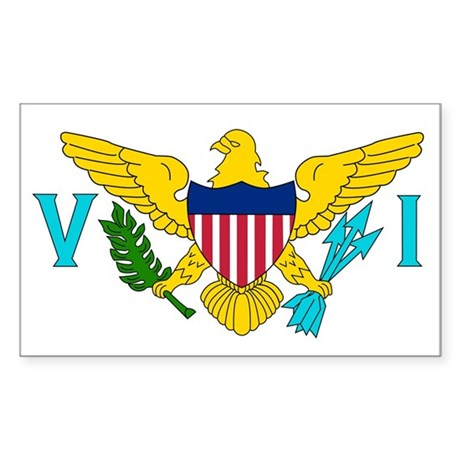 U.S. Virgin Islands Flag Rectangle Sticker