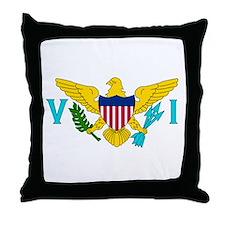 U.S. Virgin Islands Flag Throw Pillow
