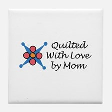 QUILTED BY MOM Tile Coaster