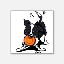 "Unique Border collie Square Sticker 3"" x 3"""
